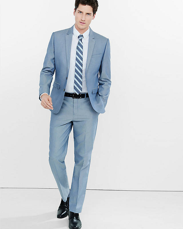 blue-suit 14 Splendid Wedding Outfits for Guys in 2020