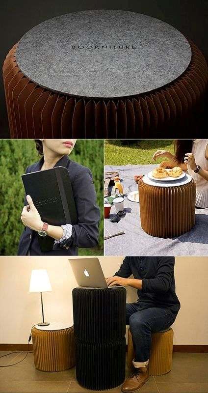 books-turned-into-chairs 83 Creative & Smart Space-Saving Furniture Design Ideas in 2018
