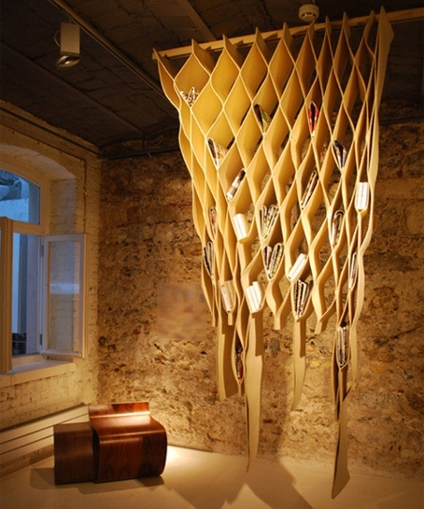 ceiling-shelf 83 Creative & Smart Space-Saving Furniture Design Ideas in 2017