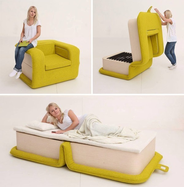 chair-bed 83 Creative & Smart Space-Saving Furniture Design Ideas in 2018