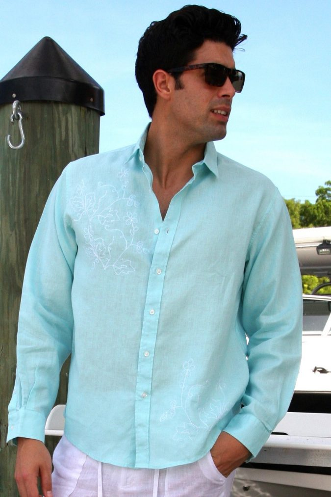 colorful-linen-shirt2-675x1013 10 Most Stylish Outfits for Guys in Summer 2018
