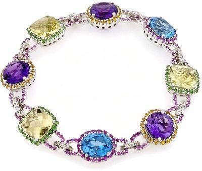 dalarna-white-diamond-multi-gems-precious-gold-stone-bracelet-gemstone-appraisal How To Hide Skin Problems And Wrinkles Using Jewelry?