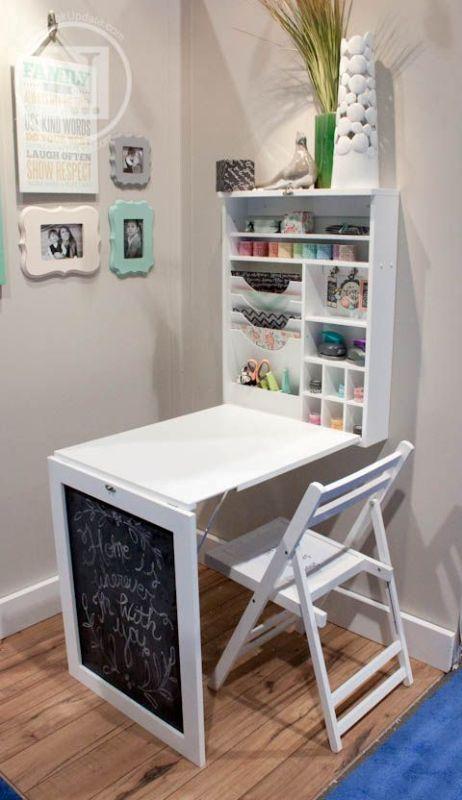 desk-blackboard 83 Creative & Smart Space-Saving Furniture Design Ideas in 2020
