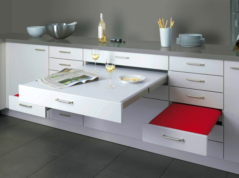 dining-table-drawers 83 Creative & Smart Space-Saving Furniture Design Ideas in 2020