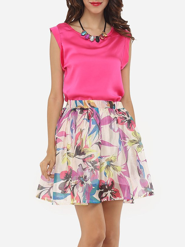 floral-skirt-top-Favim.com-4523124 +40 Elegant Teenage Girls Summer Outfits Ideas in 2020