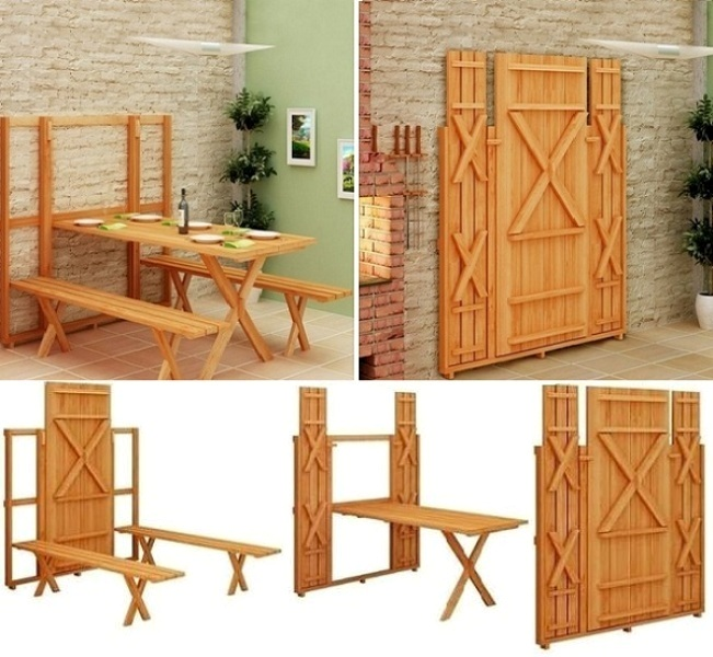 fold-up-picnic-table-and-chairs 83 Creative & Smart Space-Saving Furniture Design Ideas in 2020