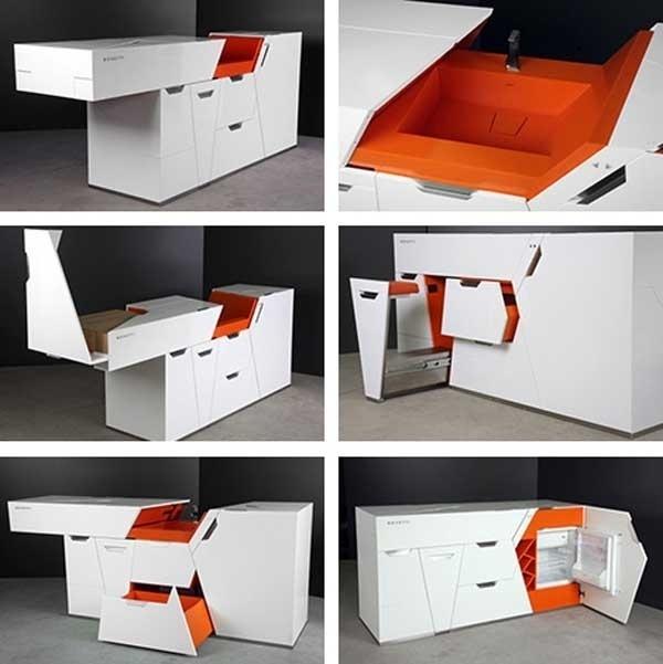 foldable-kitchen 83 Creative & Smart Space-Saving Furniture Design Ideas in 2020