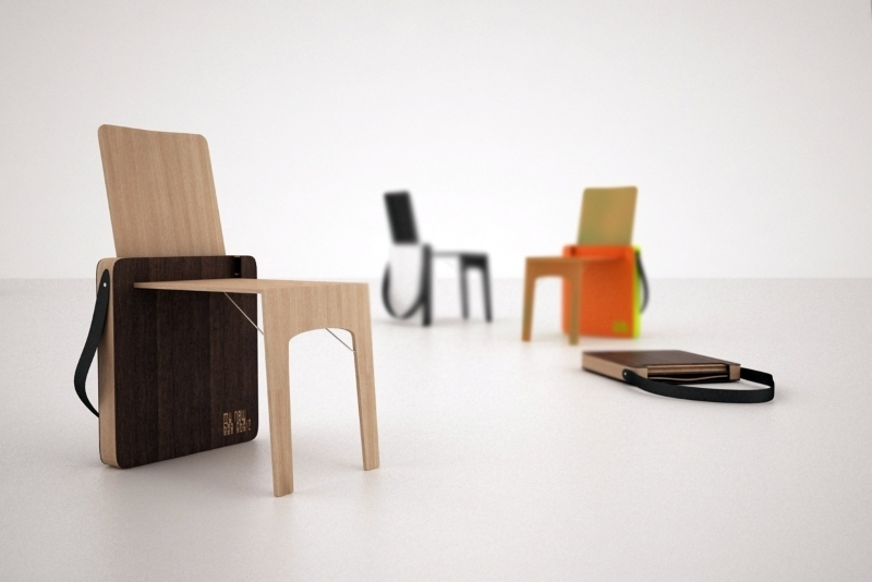 foldable-small-chairs-that-can-be-easily-carried 83 Creative & Smart Space-Saving Furniture Design Ideas in 2020