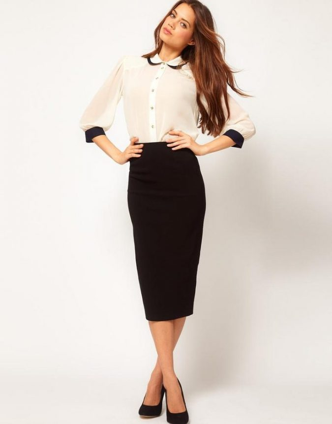 formal-skirt-and-shirt-675x861 20+ Stylish Teenages Job Interview outfits Design Ideas in 2018