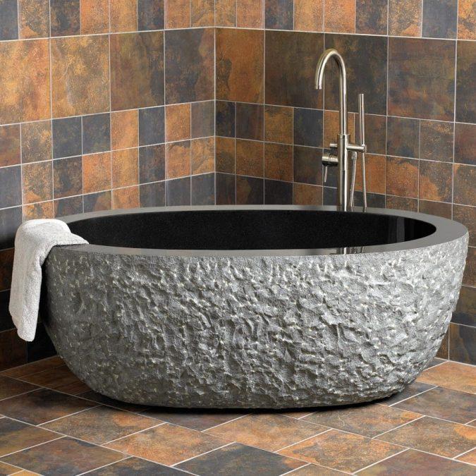 granite-bathtub-675x675 6 Bathtub Designs that will Make your Jaw Drops!