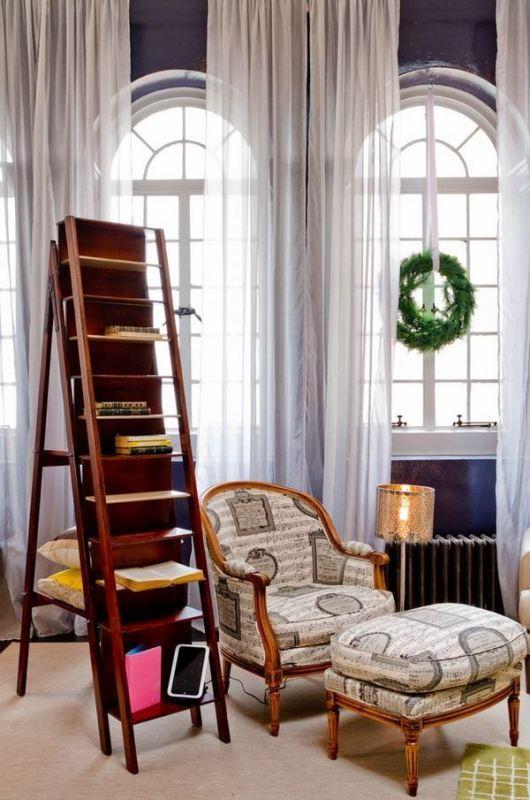 ladder-shelf 83 Creative & Smart Space-Saving Furniture Design Ideas in 2020