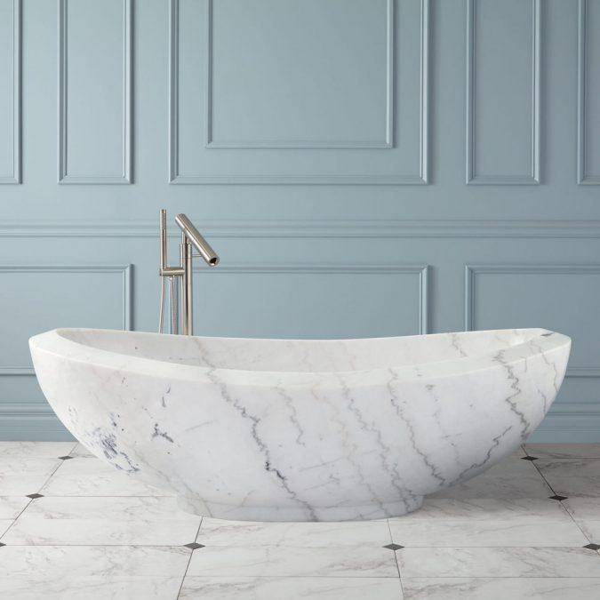 marble-bathtub-675x675 6 Bathtub Designs that will Make your Jaw Drops!