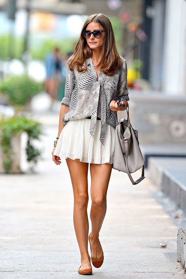 olivia-palermo-skater-skirt-look +40 Elegant Teenage Girls Summer Outfits Ideas in 2021