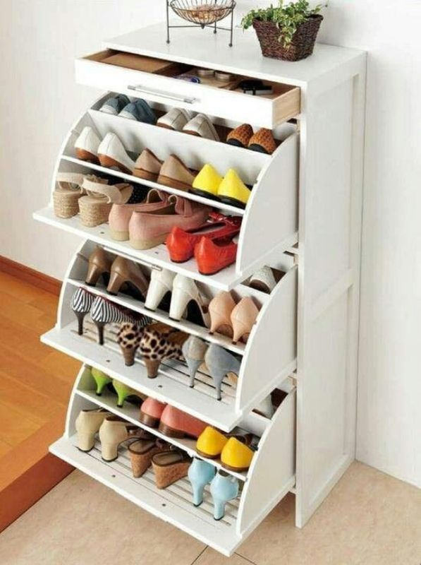 perfect-idea-for-shoes 83 Creative & Smart Space-Saving Furniture Design Ideas in 2020