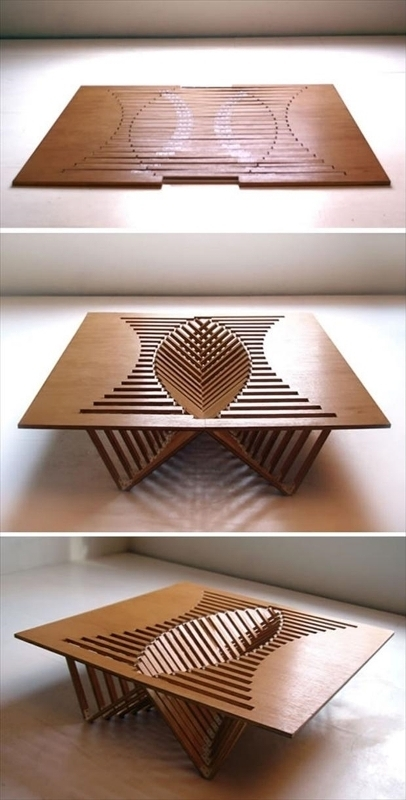 pop-up-table 83 Creative & Smart Space-Saving Furniture Design Ideas in 2020
