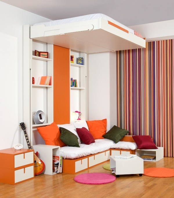 pull-down-bed 83 Creative & Smart Space-Saving Furniture Design Ideas in 2018