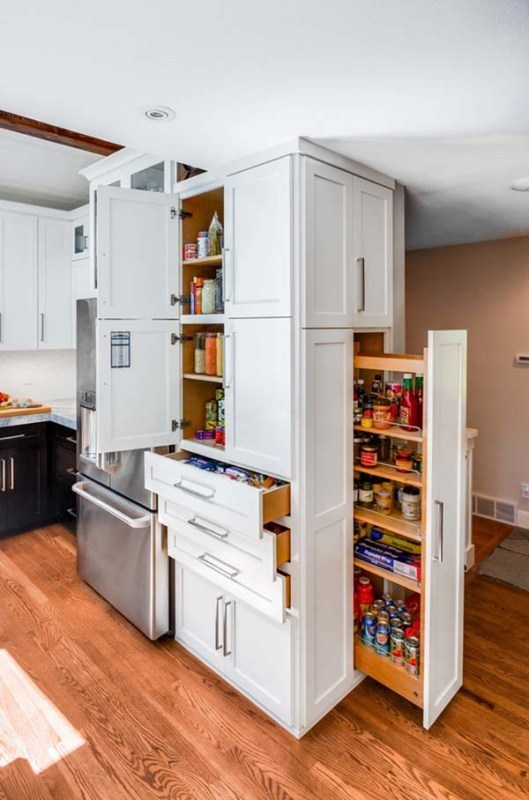 pull-out-kitchen-cabinets 83 Creative & Smart Space-Saving Furniture Design Ideas in 2020