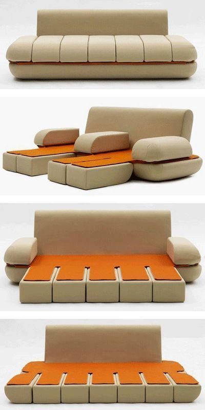 sofa-bed 83 Creative & Smart Space-Saving Furniture Design Ideas in 2020