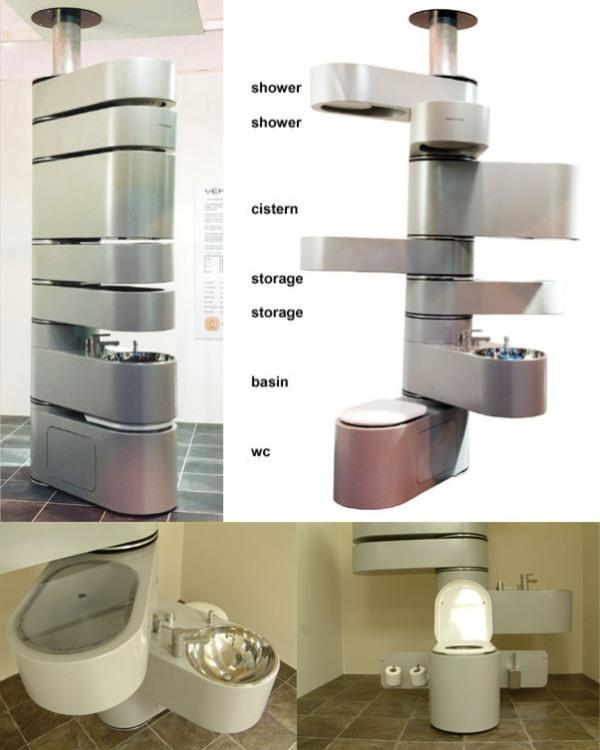 space-saving-bathroom 83 Creative & Smart Space-Saving Furniture Design Ideas in 2020