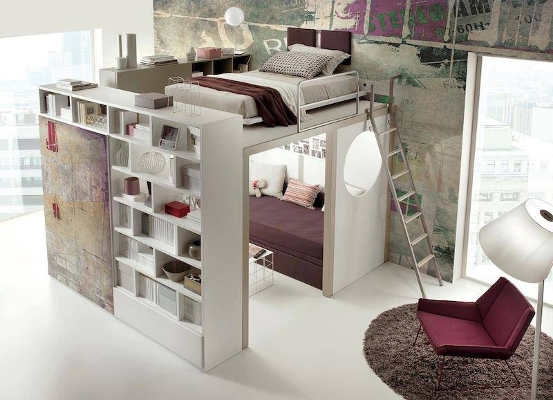 space-saving-bedroom 83 Creative & Smart Space-Saving Furniture Design Ideas in 2020
