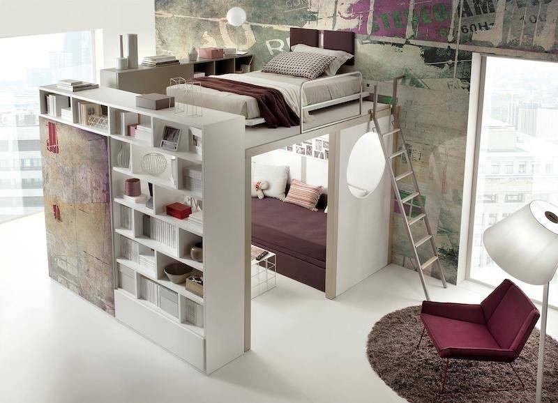 space-saving-bedroom 83 Creative & Smart Space-Saving Furniture Design Ideas in 2020