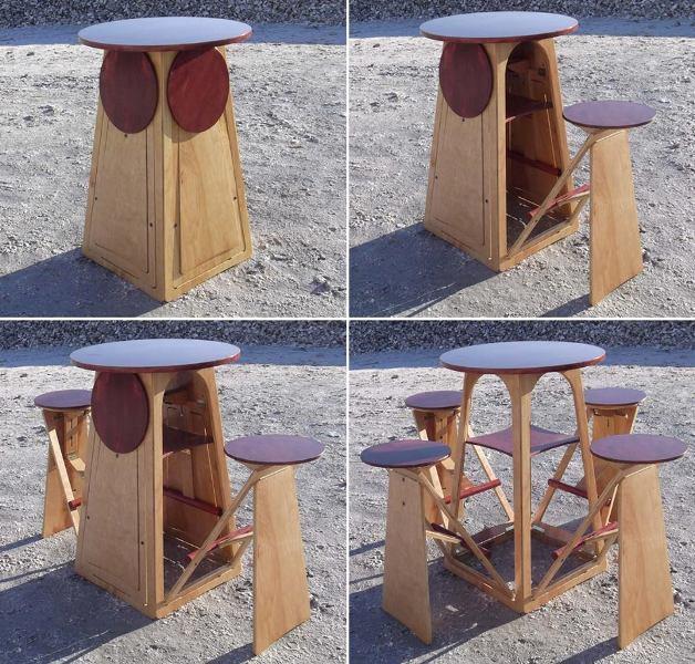 space-saving-dining-set-1 83 Creative & Smart Space-Saving Furniture Design Ideas in 2018