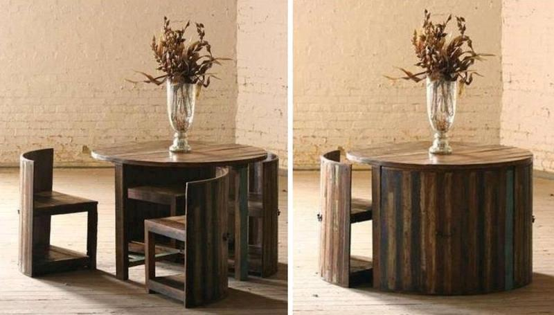 space-saving-dining-set. 83 Creative & Smart Space-Saving Furniture Design Ideas in 2020