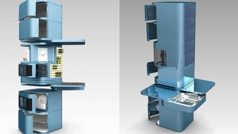 space-saving-kitchens 83 Creative & Smart Space-Saving Furniture Design Ideas in 2020