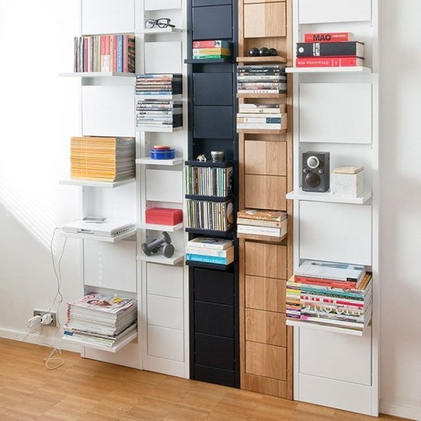 space-saving-shelves 83 Creative & Smart Space-Saving Furniture Design Ideas in 2020
