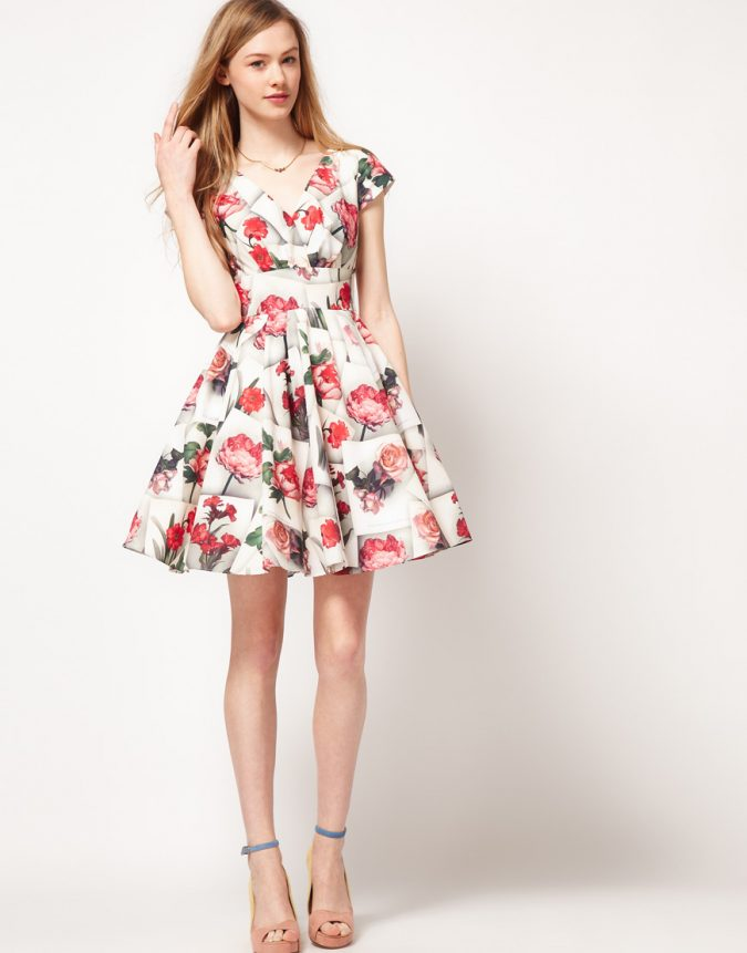 white-color-Formal-Floral-Dress-ideas-675x861 +40 Elegant Teenage Girls Summer Outfits Ideas in 2021