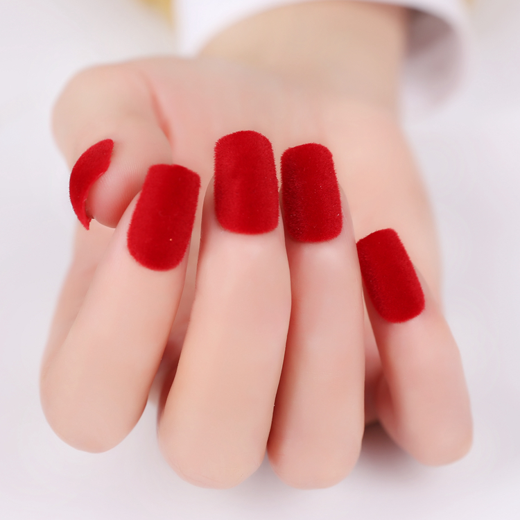 2016-New-Arrival-22Pcs-Plush-Surface-Solid-Color-Short-False-Nails-Round-Sharp-Square-Full-Cover 125 years of Fingernails Trends Development