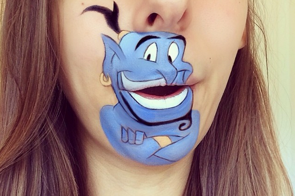 Art-of-Disney-characters 16 Creative Lip Makeup Arts