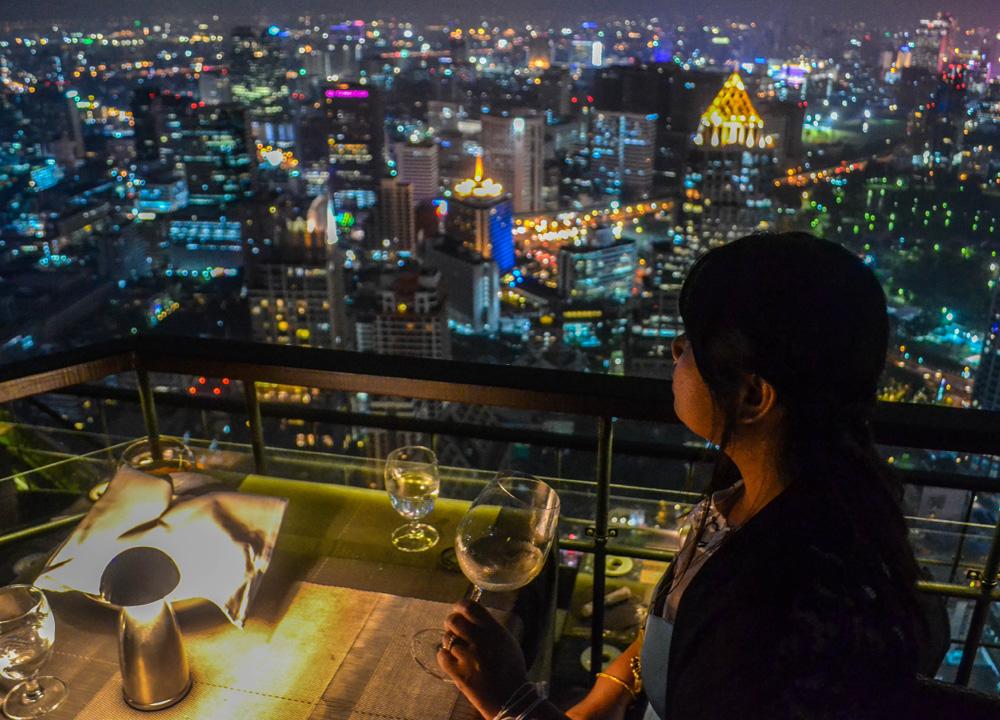 Bangkok-Vertigo-Rooftop-Bar-Panoramic-Views 10 Most Unusual Restaurants in The World