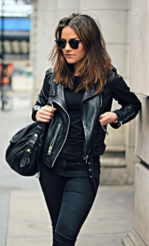 Black-Vegan-Jacket7 5 Casual Winter Outfits for Elegant Ladies