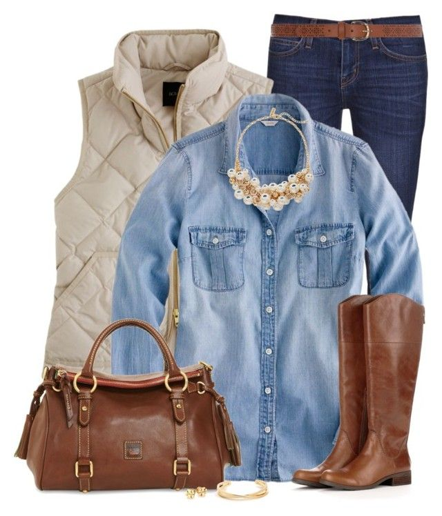 Chambray-shirt-outfit2 6 Stylish Fall Outfits for School