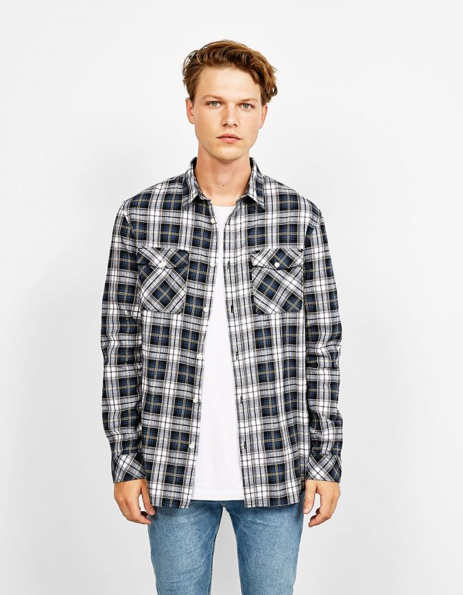 Checked-Shirt-675x866 11 Tips on Mixing Antique and Modern Décor Styles