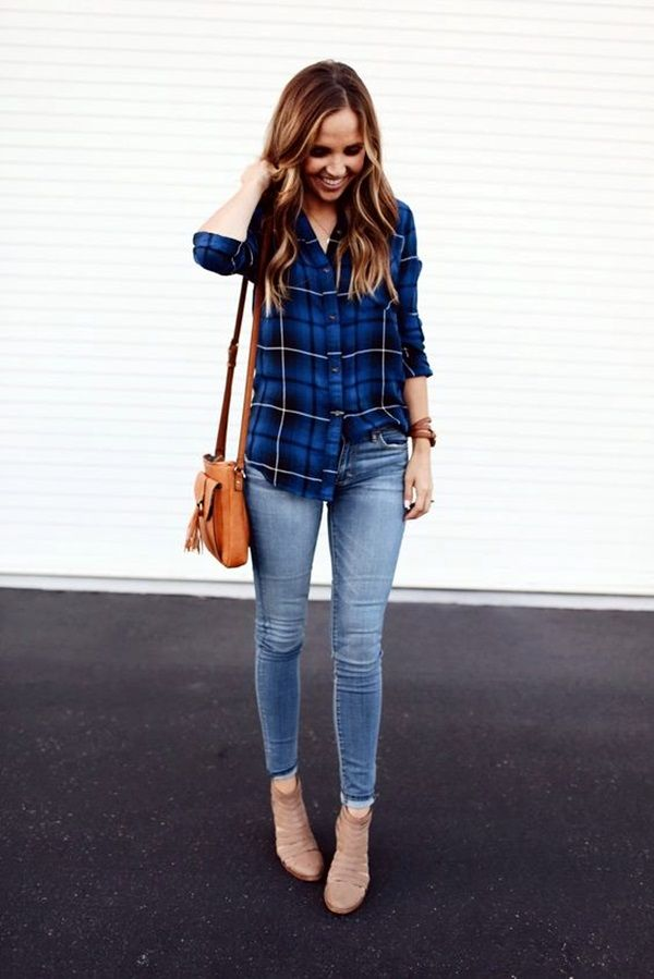 Checked-Shirt10 6 Stylish Fall Outfits for School