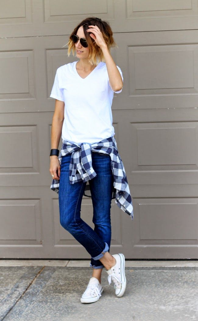 Checked-Shirt11 6 Stylish Fall Outfits for School