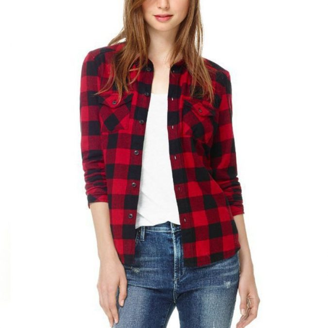 Checked-Shirt4-675x675 6 Stylish Fall Outfits for School