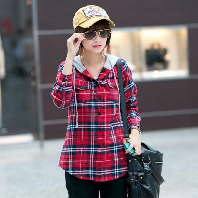 Checked-Shirt6-675x675 6 Stylish Fall Outfits for School