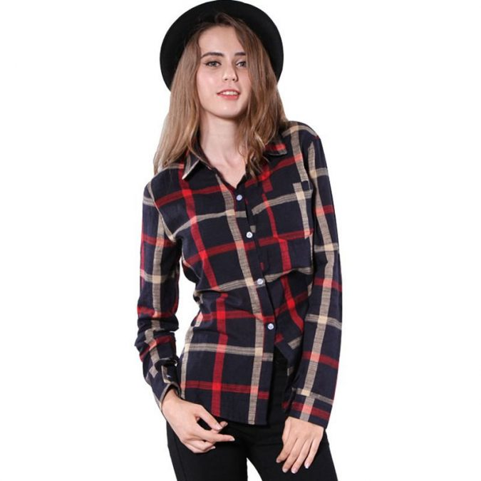 Checked-Shirt7-675x675 6 Stylish Fall Outfits for School