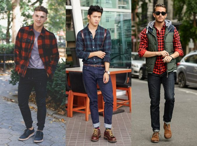 Checked-Shirt8-675x500 6 Stylish Fall Outfits for School
