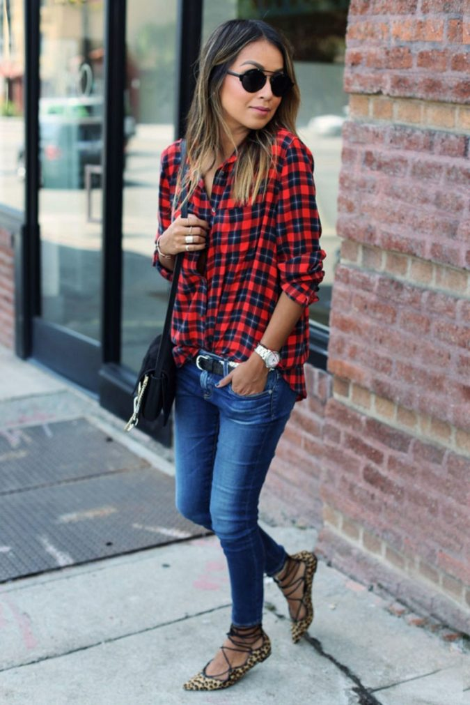 Checked-Shirt9-675x1011 6 Stylish Fall Outfits for School