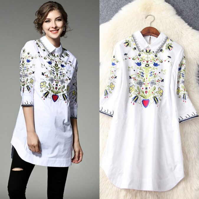 Embroidered-cotton-blouse3-675x675 6 Stylish Fall Outfits for School