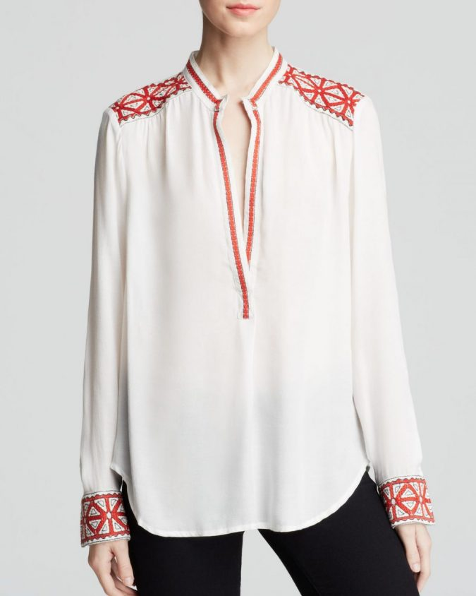 Embroidered-cotton-blouse4-675x844 11 Tips on Mixing Antique and Modern Décor Styles