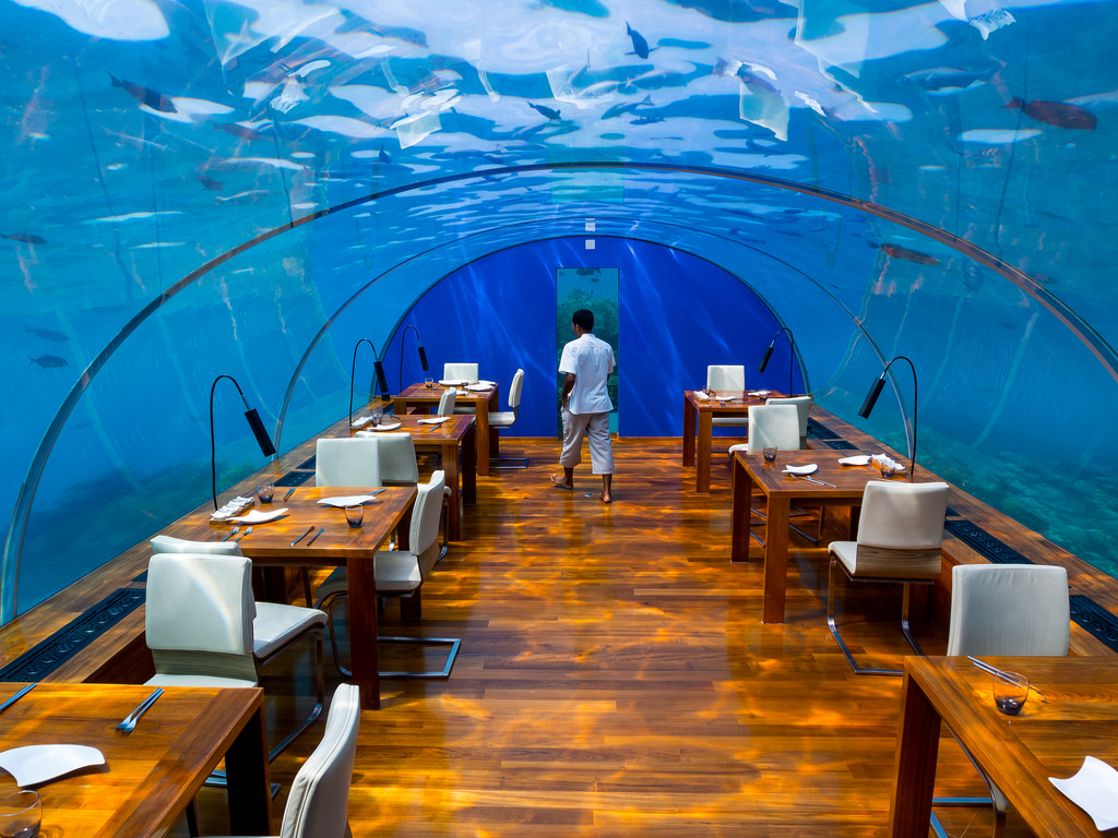Ithaa-Underwater-Restaurant-in-Maldives2 10 Most Unusual Restaurants in The World 2018