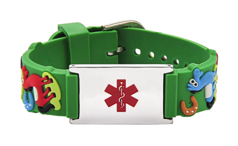 Medical-ID-Bracelet-Green-475x292 75 Most Healthy Medical Accessories And Bracelets