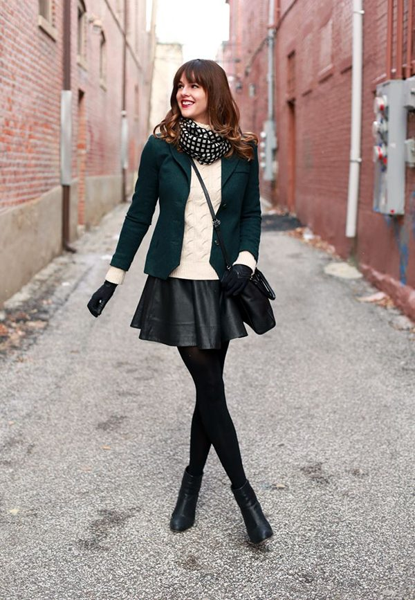Mini-Skirt 5 Casual Winter Outfits for Elegant Ladies