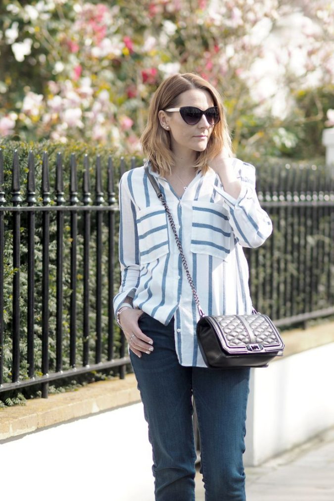 Striped-shirt2-675x1013 6 Stylish Fall Outfits for School