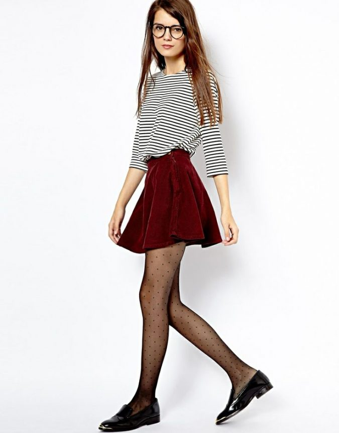 Striped-shirt5-675x861 6 Stylish Fall Outfits for School